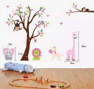 Nursery animals wall stickers