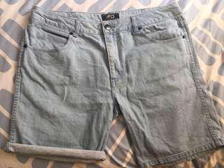 Denim Contrast Pocket Shorts