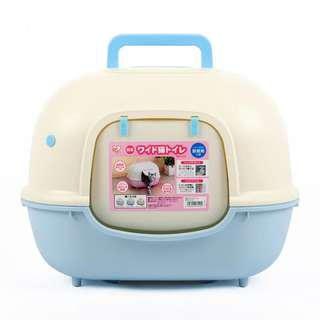 🚚 BIG IRIS Cat Toilet Litter Box Close Top With Scoop Full Cover Japan