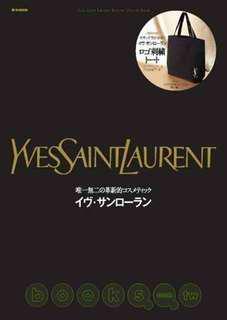 YSL 聖羅蘭 黑色 帆布 托特包 購物袋 側背包 刺繡包 金色LOGO 絕版日雜 全新 完整收藏