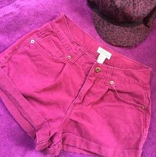 (Repriced) Forever 21 HW Burgundy Denim Shorts