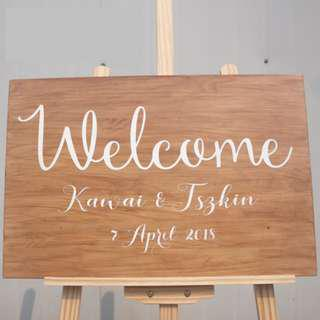 SALE - S185 CUSTOMISABLE WEDDING WOODEN BOARD SIGNAGE