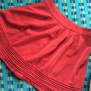 Zara Trafaluc Rust Orange Skirt