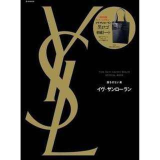 YSL 聖羅蘭 黑色 帆布 托特包 購物袋 側背包 刺繡包 黑色LOGO 絕版日雜 全新 完整收藏