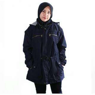 Jaket Parka cewek NAVY / ORIGINAL LOKAL / Ladies / Premium