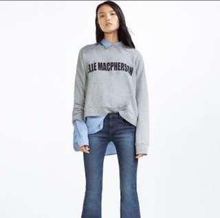 BNEW Zara Elle Macpherson Supermodel Sweatshirt Sweater S-M