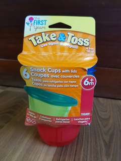 Stock 2: Take and Toss Snack Cups with Lids (6 pcs)