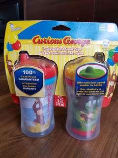 Gerber Curious George Spout Cups Set (2 pcs)