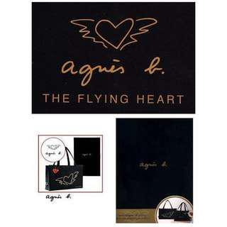 agnes b. 黑色 帆布 托特包 購物袋 側背包 提背袋 吊飾 絕版日雜 全新 完整收藏
