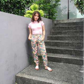 REPRICED GU FLORAL PANTS