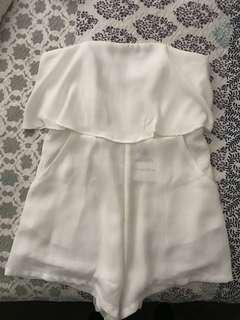 White playsuit size 10