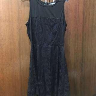 Something Borrowed Mesh Laced Dress