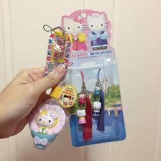Hello Kitty 掛飾3件