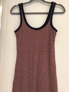 Zara Striped Midi Dress, Size S (8-10)