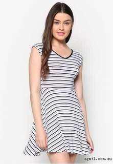 Factorie Striped Skater Dress