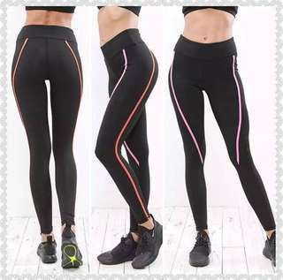 Legging Strip Warna JDF Capri Pants