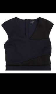 Zalora Navy Midi Work Dress