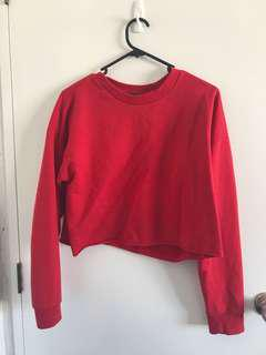 Glassons Red Crop Jersey