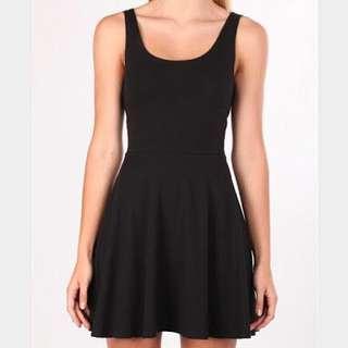 Factorie Black Skater Dress