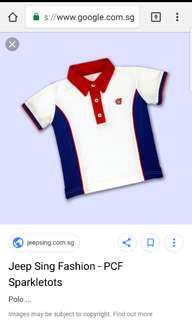 Pcf sparkletot polo tee uniforms set for boys