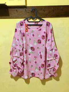 Atasan flowers pink NEW
