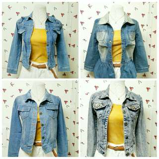 PROMO. ANY 2 DENIM JACKETS FOR 399 EACH