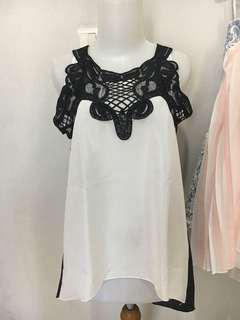 Tank embroidery lace