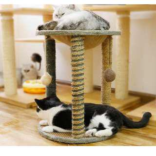 🚚 3 Pillar cat scratching post with resting station at top scratcher climber