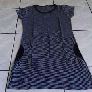 Mini Dress /atasan Stripe