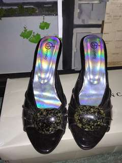 Donatello black heels