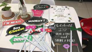 Photobooth Props for wedding