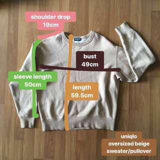 (postage inc) uniqlo oversized sweater pullover