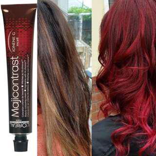 Vibrant red hair Do it at home! Loreal magicontrast professional hair dye