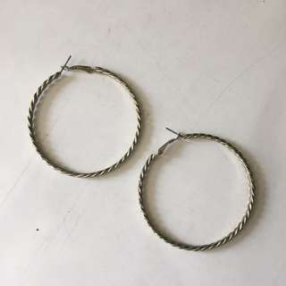 Twisted Gold Hoop Earrings