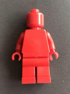 Lego RED monochrome minifig