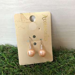 Rosegold pearl earrings