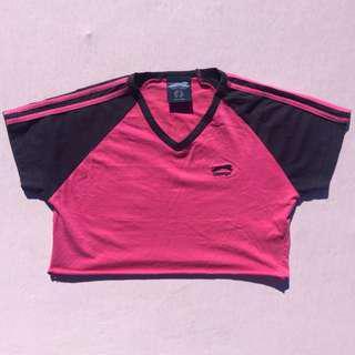 00s 90s pink slazenger sporty crop