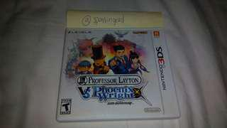 Professor Layton vs Phoenix Wright 3DS