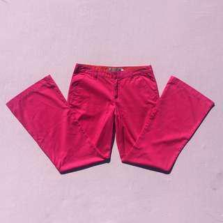 Y2K hot pink POP STAR flares