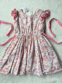 Little Miss Floral Pink Dress