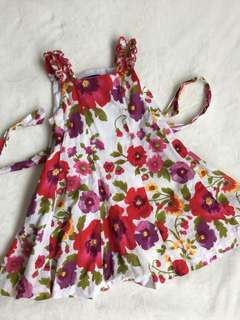Periwinkle Floral Red Dress