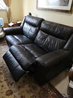 Recliner sofa Full leather