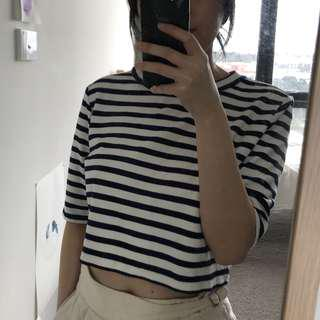 HM Striped Cropped Top