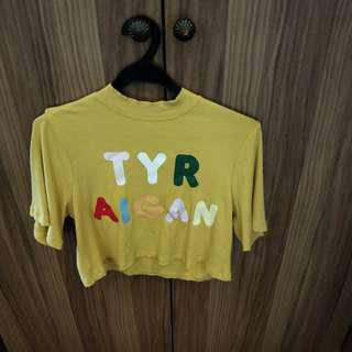 Eggie Try Again Yellow Crop Top