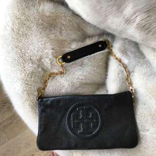 Tory Burch Black leather purse/clutch