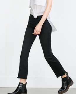"ZARA Kick Crop Flare Jeans 26"""