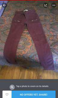 Abercrombie and Fitch burgundy pants