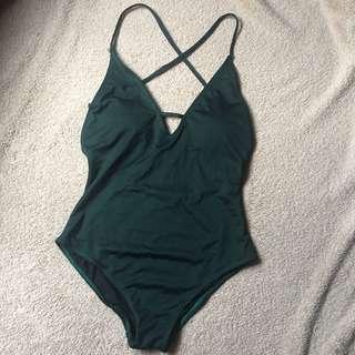 SALT SWIM 'lauren' one piece swimsuit in hunter green