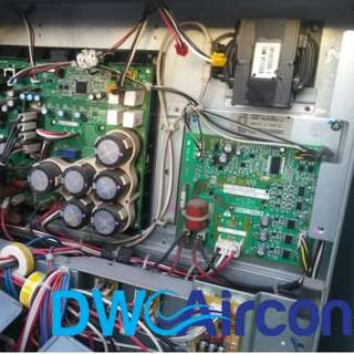 Aircon Welding Works and PCB Replacement For Inverter Compressor (Aircon Repair Singapore, Office - Raffles Place)