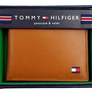 全新美國入口 TOMMY HILFIGER Wallet 銀包 (真皮) 禮物 專門店賣$590 英國啡 父親節禮物